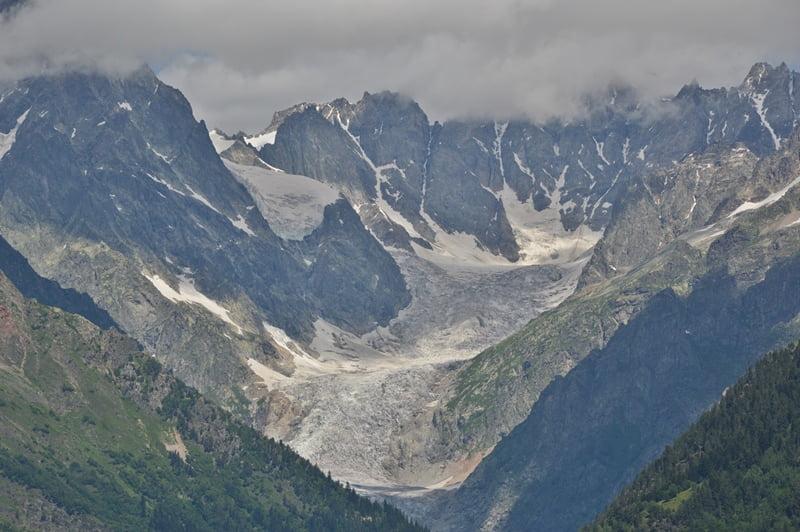 Ледник Чалаад - вид сверху