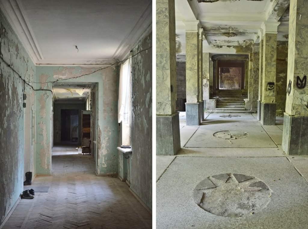 Коридор в бывшем санатории Цхалтубо