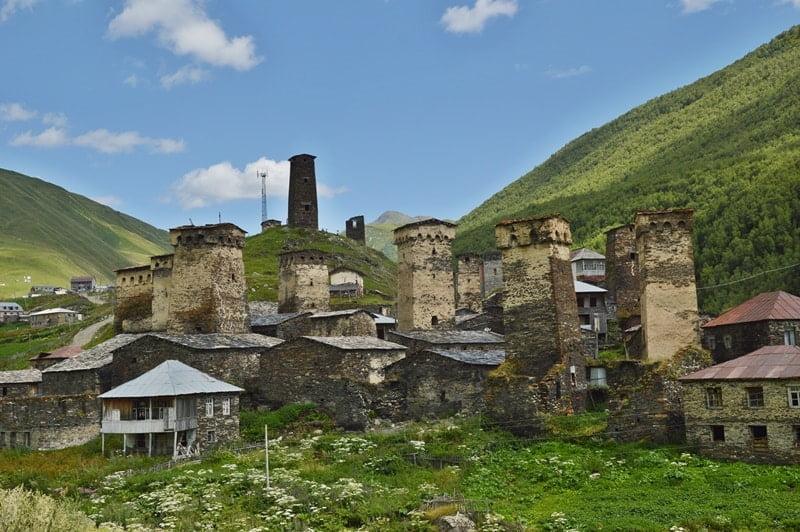 сванские башни грузия