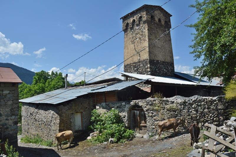 Традиционный дом сванов