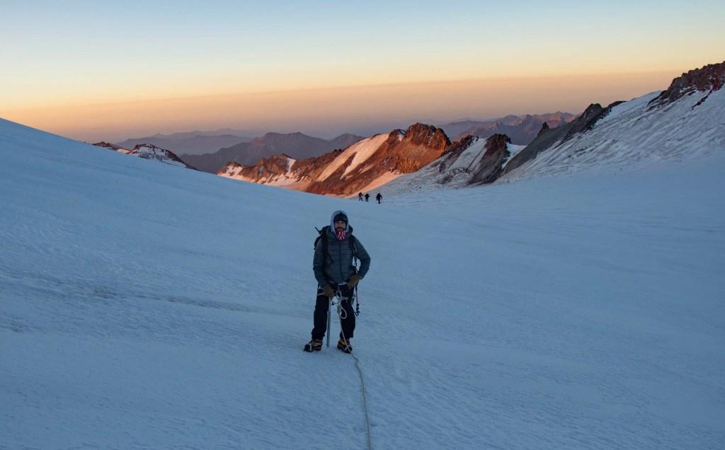 Восход солнца восхождение на Казбек