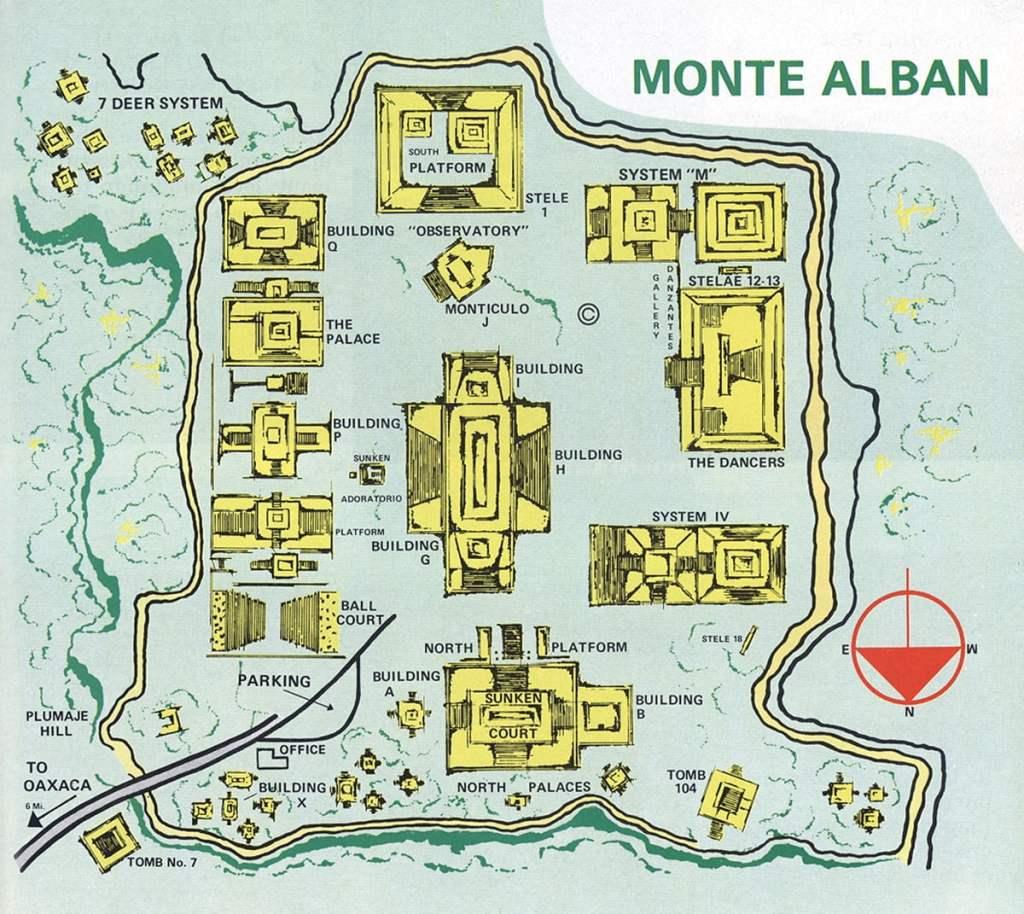 Схема комплекса Монте Альбан