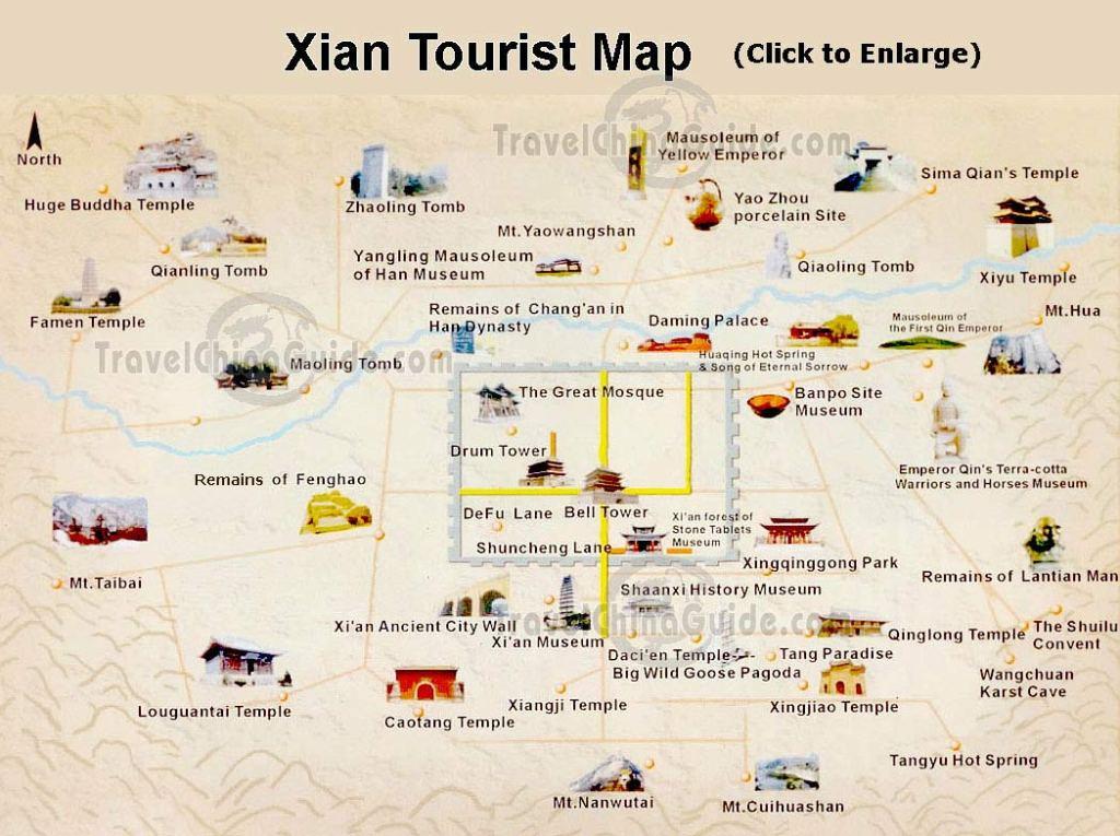 Карта города Сиань