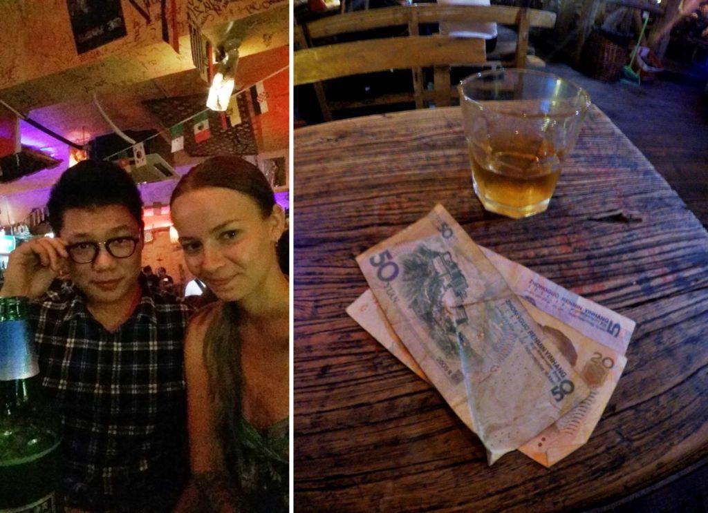 Снимок с китайцем в баре