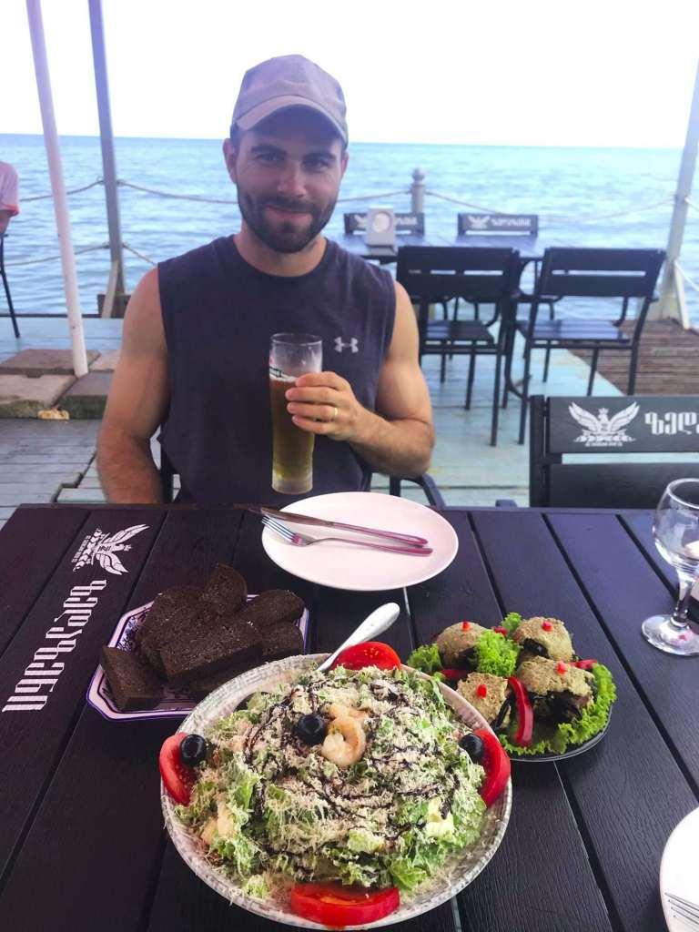 Обед в Батуми с видом на море