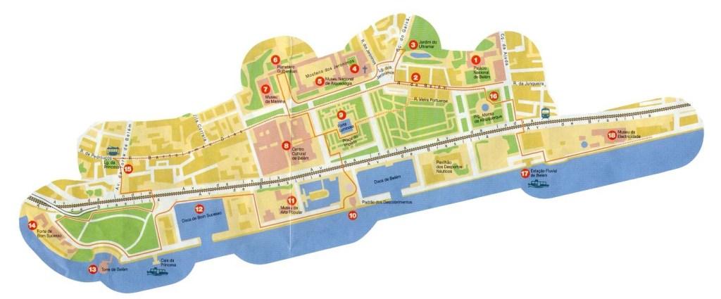 Район Белем ЛИссабон - карта