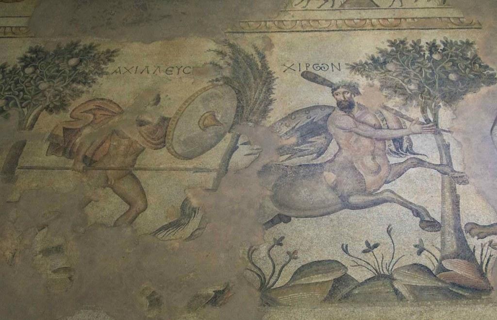 Кентавр и Ахилл - музей мозаики в Шанлыурфе