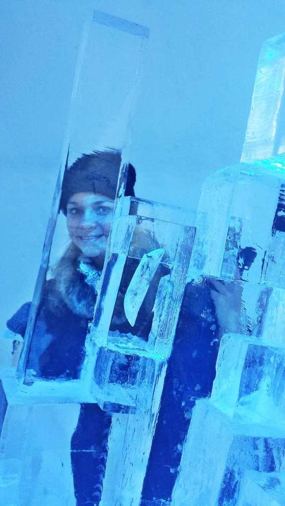 портрет сквозь ледяную глыбу