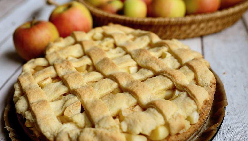 осенний торт из яблок