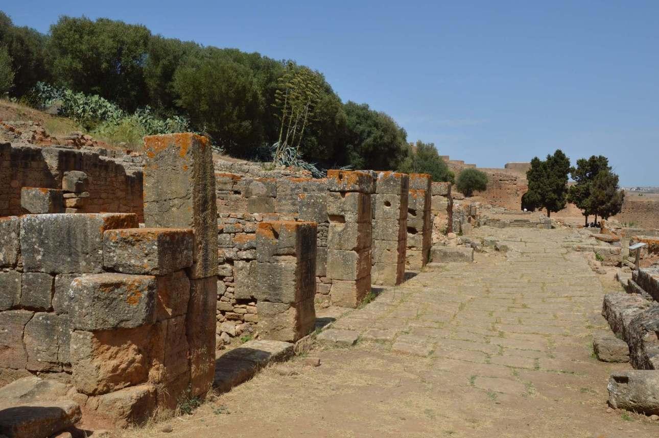 Улица древнего поселения Сала-Колония в Марокко