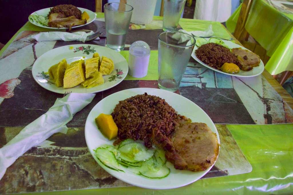 Комплексный обед - кубинская кухня