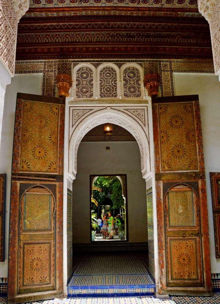 Двери замка в Марракеше