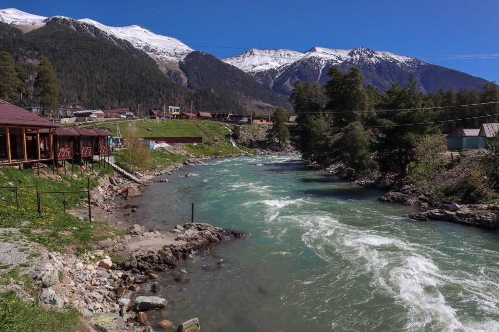 Река большой зеленчук на Кавказе
