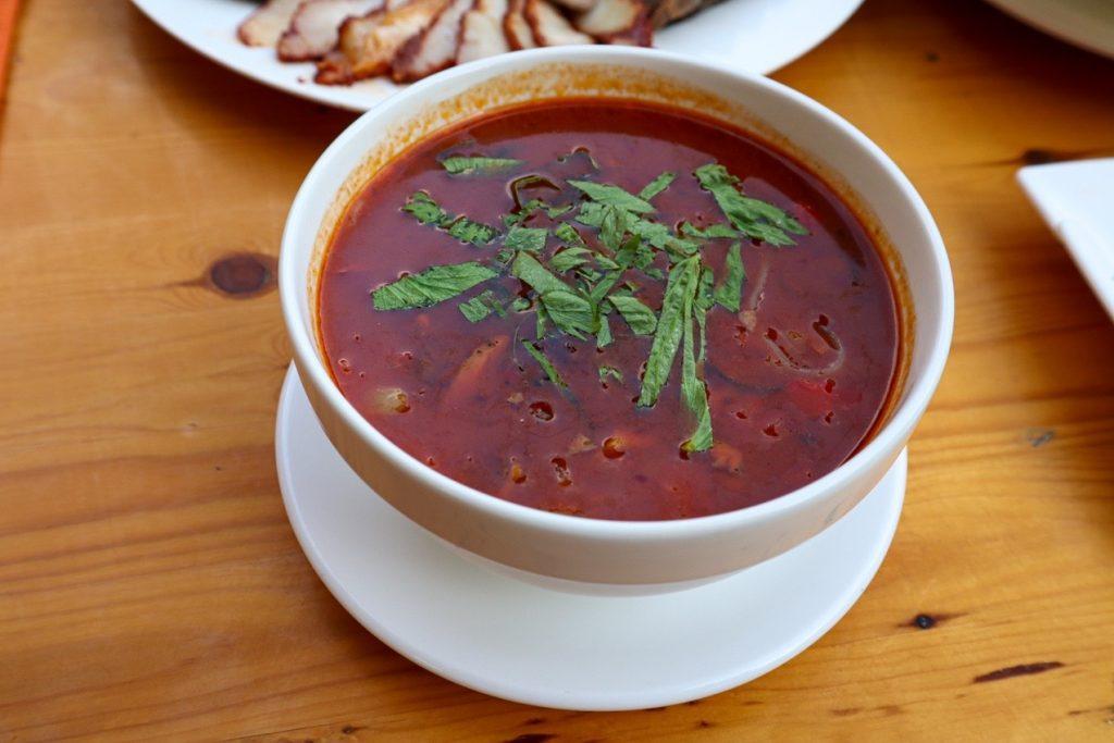 Острый суп сантавро — киргизская кухня