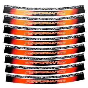 Calcomania Para Rin Motocicleta Rojo Fluo Print