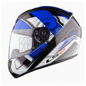 Casco P/ Motociclismo Integral Ls2 Ff352 Action Azul/bco