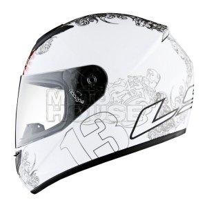 Casco P/ Motociclismo Integral Ls2 Ff352 Chance Bco/ngo