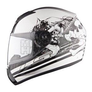 Casco P/ Motociclismo Integral Ls2 Ff352 Misfits Bco/ngo