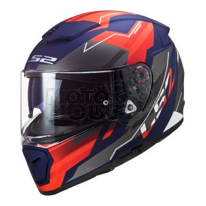 Casco Integral P/ Moto Ls2 Ff390 Breaker Beta Rojo/azul