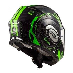 Casco Moto Abatible Ls2 Ff399 Valiant Nucleus Negro/verde