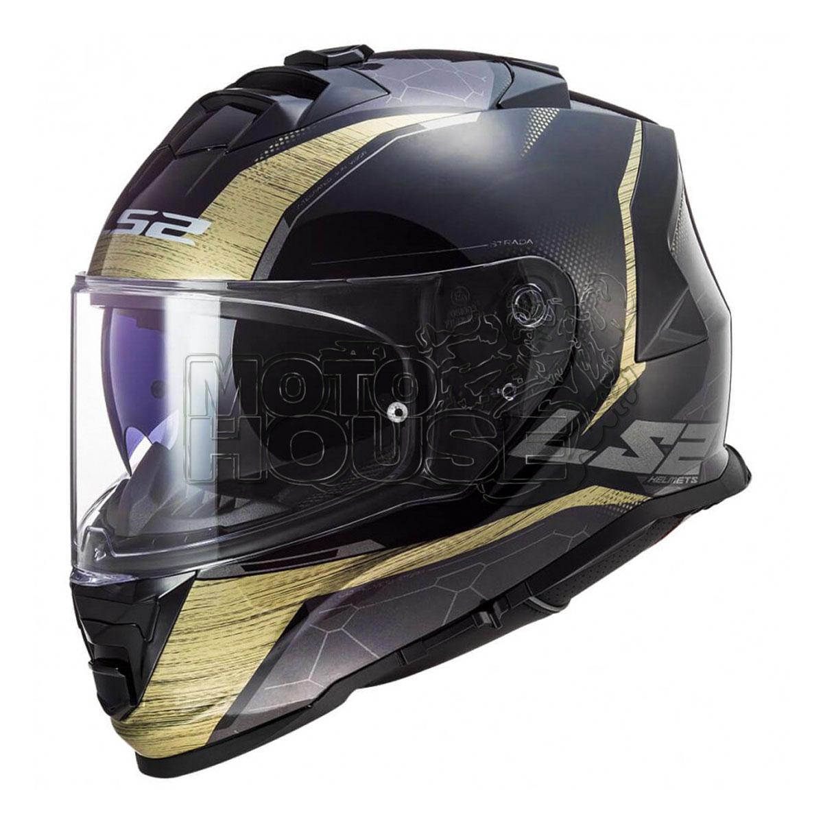 Casco Integral P/ Motociclismo Ls2 Ff800 Storm Classy Dorado