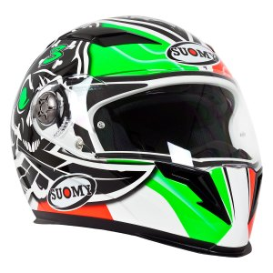 Casco Motociclismo Integral C/ Lentes Suomy Halo Biaggi Rep.