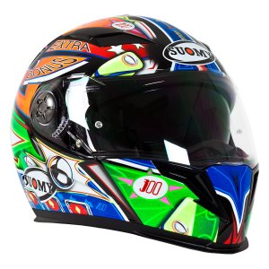Casco Motociclismo Integral C/ Lentes Suomy Halo Pinball