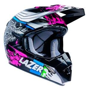 Casco P/ Motociclista Cross Lazer Mx8 Flash Pure Glass