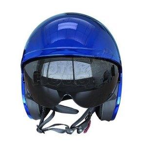 Casco Jet Motociclismo Ls2 Of599 Spitfire Solid Azul Cromo