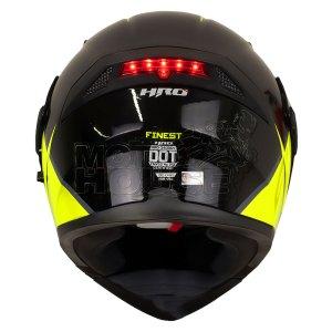 Casco Abatible C/luz Trasera Hro 3400dv Finest Negro/amarill