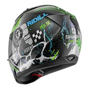 Casco Integral Shark Ridill Drift Negro/verde