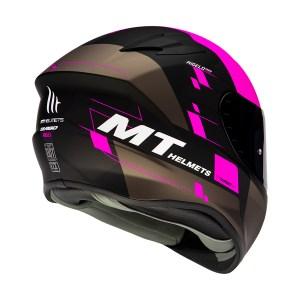 Casco Integral Mt Helmets Targo Rigel Rosa Fluo