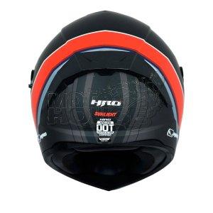 Casco Integral Hro 518 Sunlight Negro/rojo