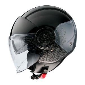 Casco Jet Mt Helmets Viale Sv Break Negro Brillante