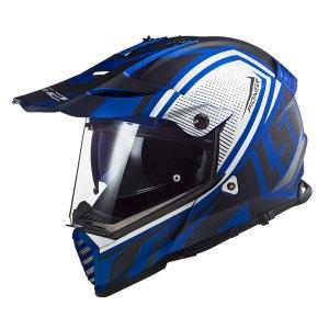 Casco  Doble Proposito Ls2 Mx436 Evo Master Azul