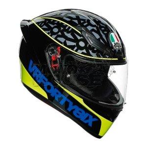 Casco Integral Agv K1 Top Speed 46 Ngo/Amarillo