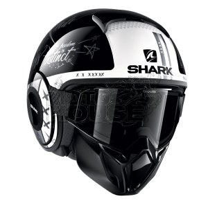 Casco Modular Shark Street Drak Tribute Negro