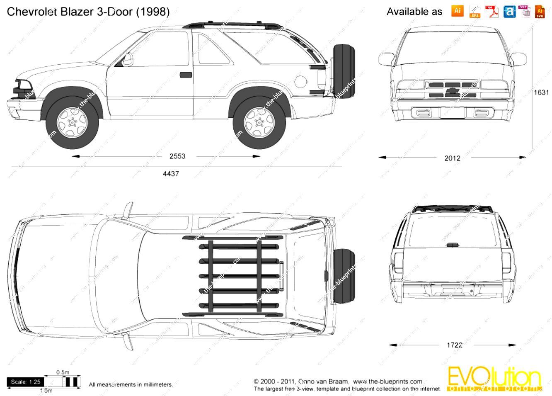 Chevrolet Blazer 3 Doors 1997 on MotoImg.com