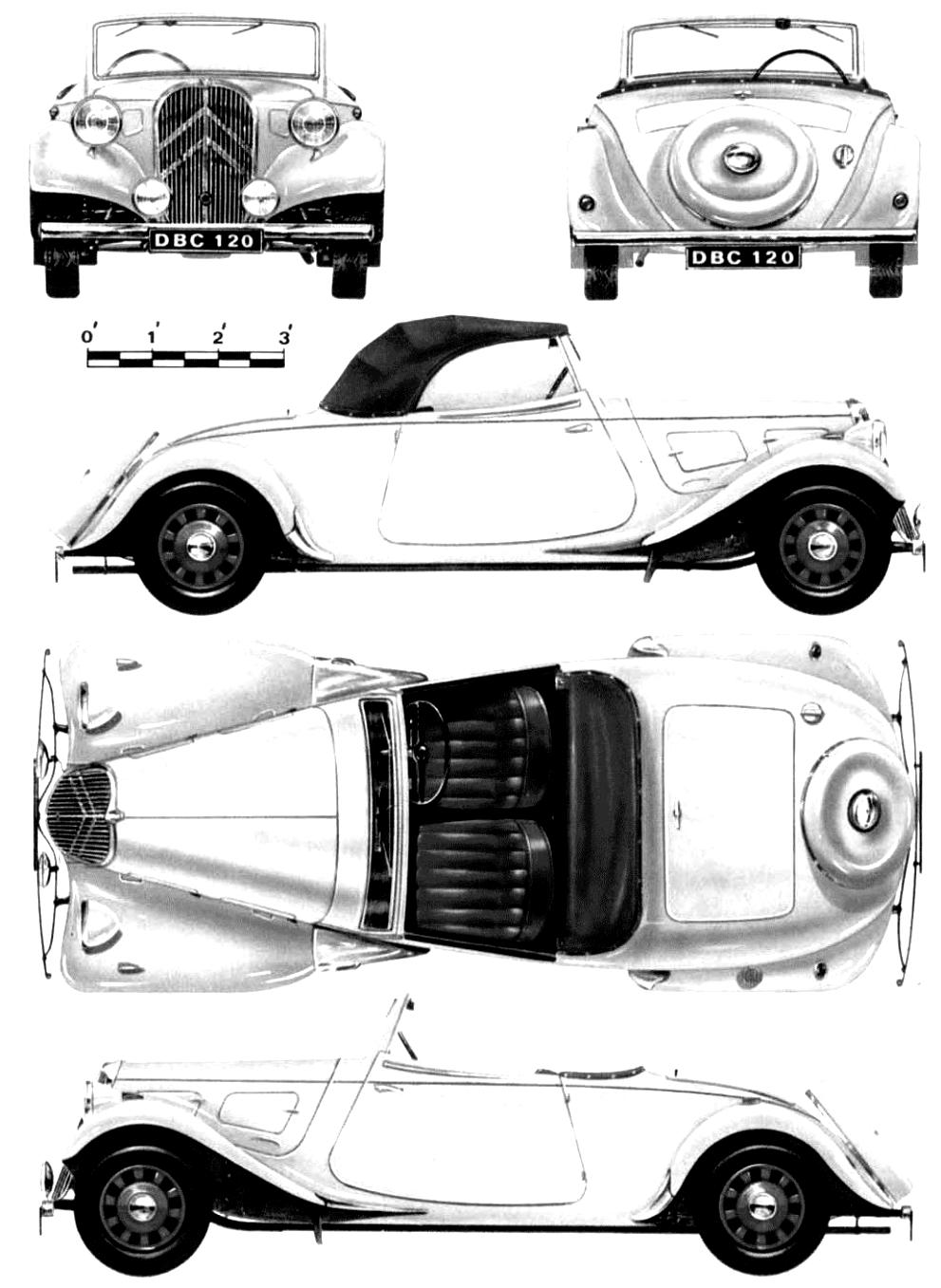 Citroen Traction 7 S Roadster 1934 on MotoImg.com