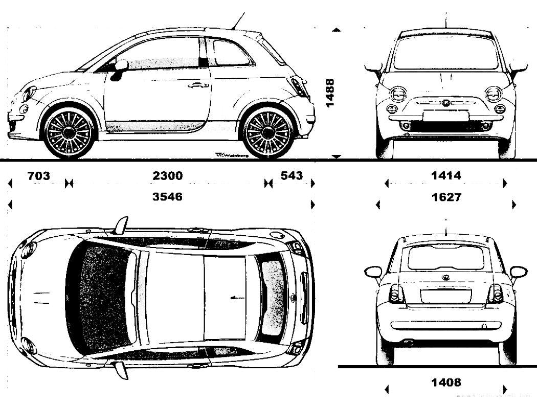 Fiat 500 2007 on MotoImg.com