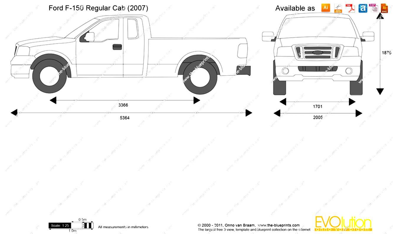 Ford F150 Blueprints Ford F150 Supercrew Standard Box