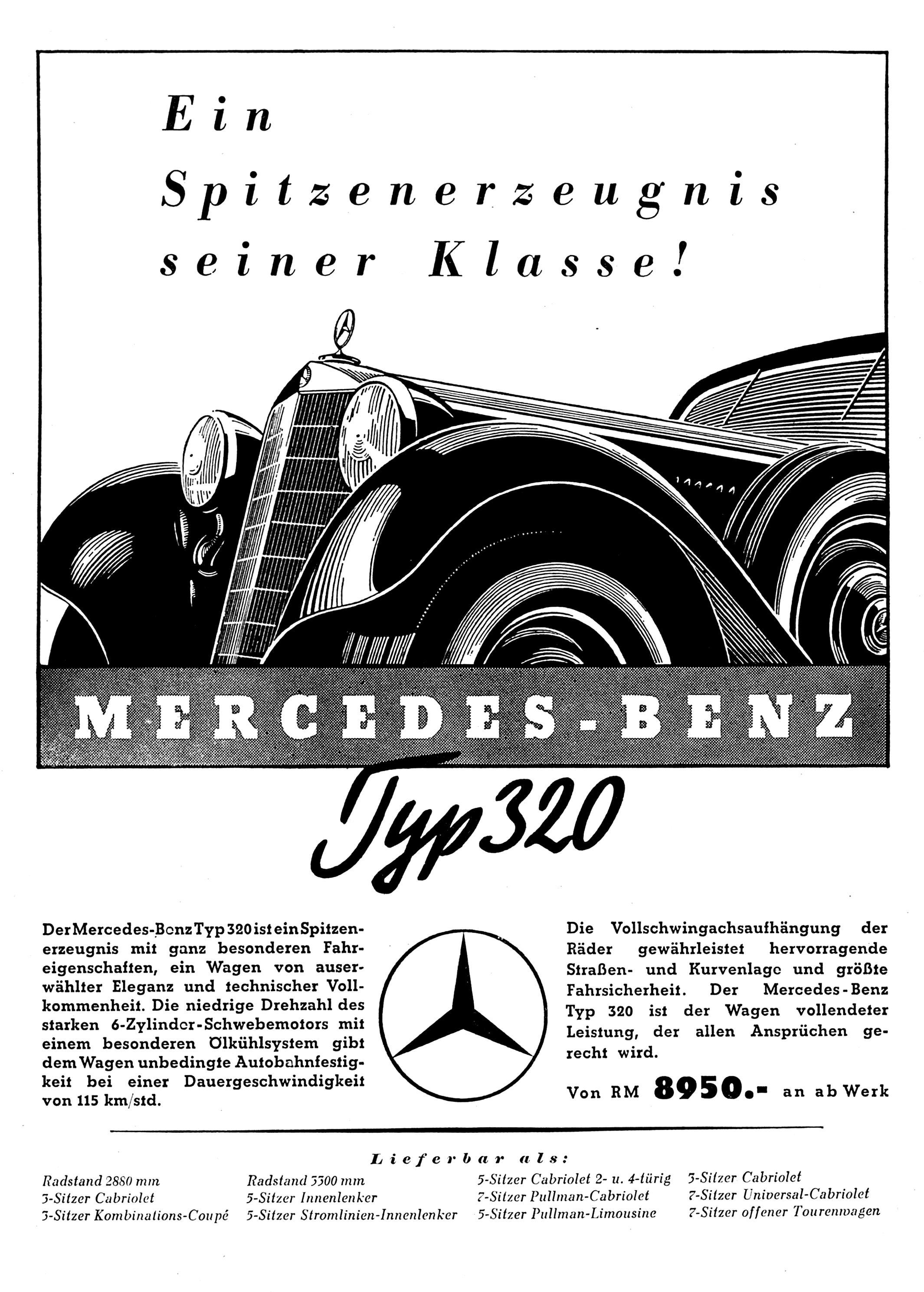 Mercedes Benz Typ 320 Pullman W142 1937 on MotoImg.com