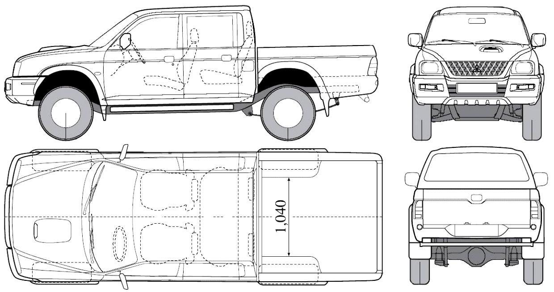 Mitsubishi L200 Crew Cab 1995 on MotoImg.com