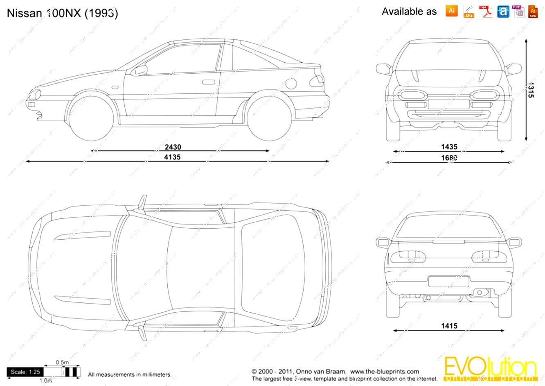 Nissan 100 NX 1991 on MotoImg.com