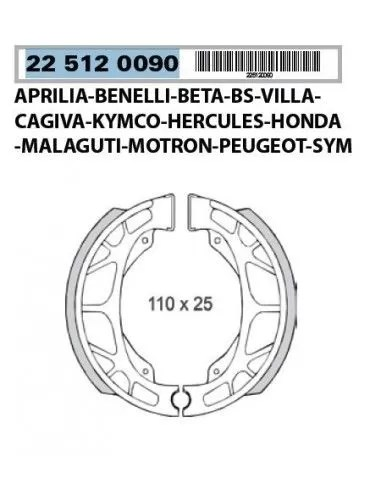 Bakbroms SKOR Aprilia Scarabeo 50 2T MOTOR Minarelli foder