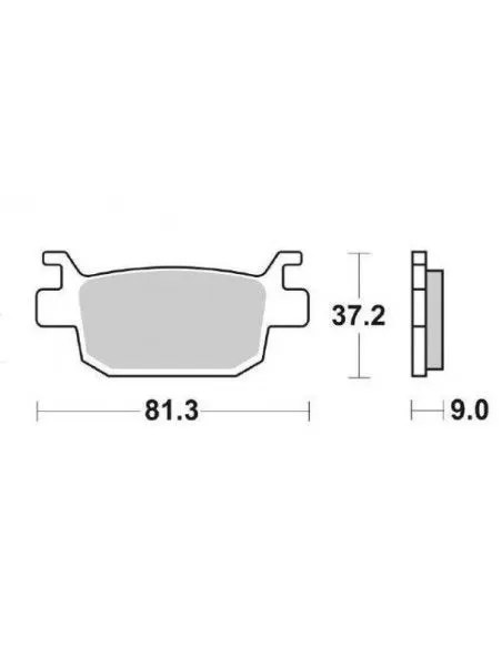Klocki SBS Spiek Honda siła, Srebrnych, 125 sh sh sh 150