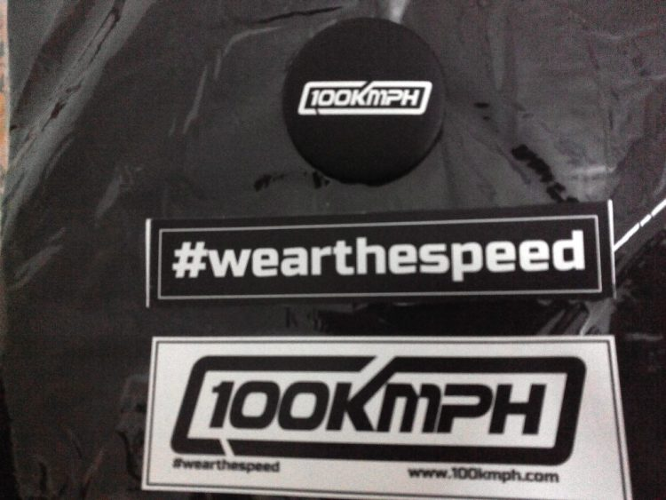 100kmph Badge and stickers