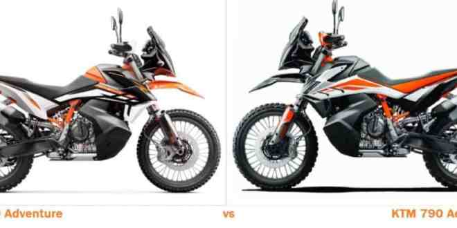 KTM 790 Adventure VS KTM 890 Adventure Comparison