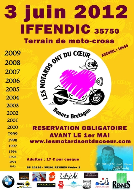 Les Motards Ont Du Coeur : motards, coeur, Rennes, Rassemblement, Motards, Cœur