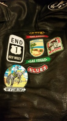 "The left sleeve of my jacket is reserved for ""location"" patches."